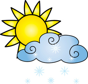 Sun and Rain Weather Clipart Free.