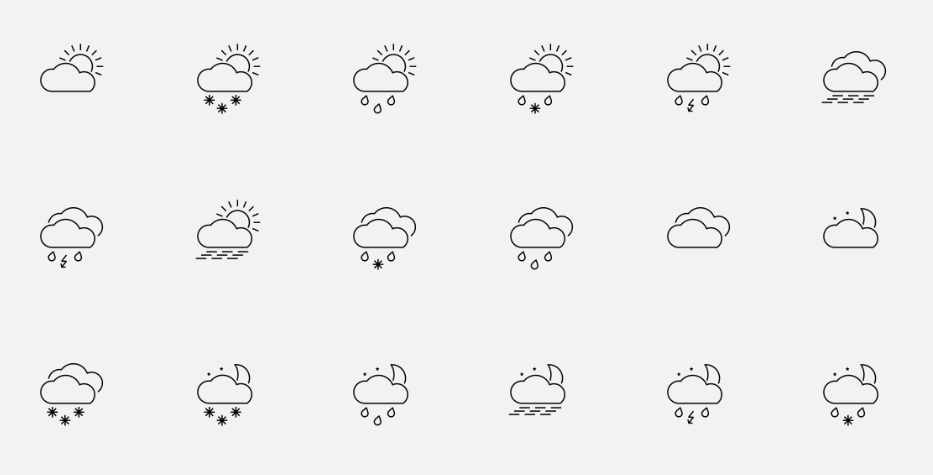 35+ Stunning Weather Icon Sets Collection.