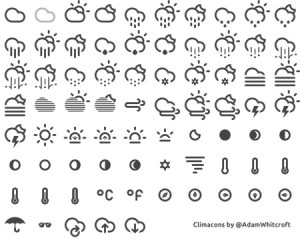 33 Free Weather Icons Set PNG & Vector.