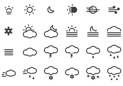 12+ Free Weather Icon Sets for your Apps & Websites.