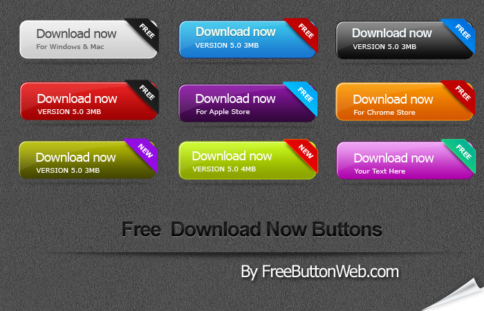 Free Button Web: Buttons.