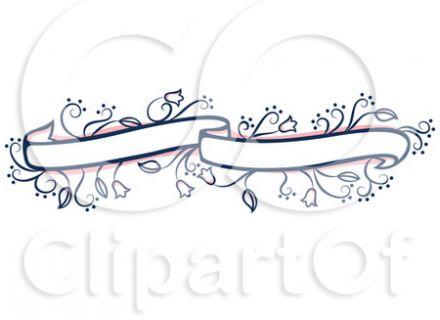 Pink Wedding Banner Clip Art.