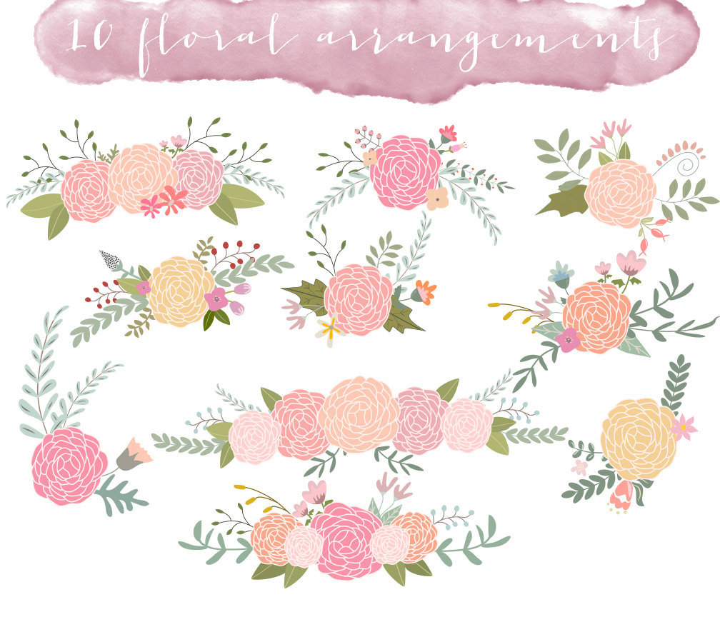 Free Wedding Flower Clipart.