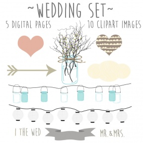 Rustic Wedding Clipart Free Image.