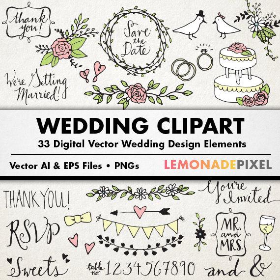 Free Rustic Wedding Clipart.