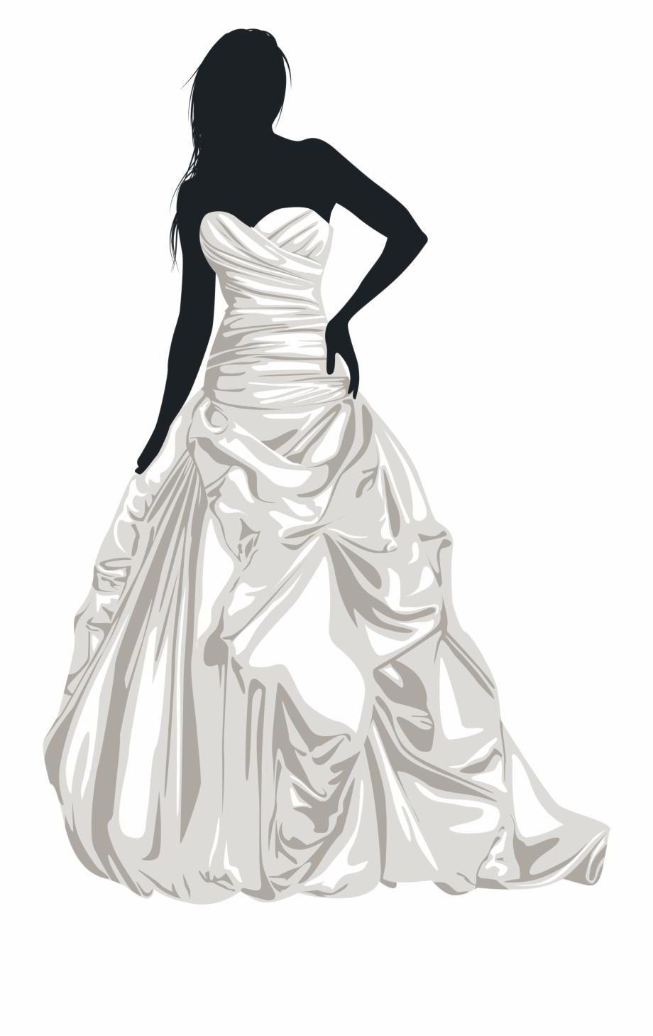 Bride Silhouette Clip Art.
