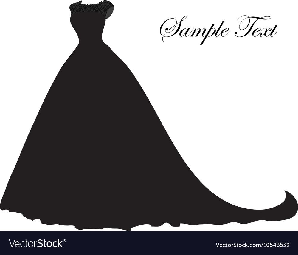 Wedding dress silhouette banner blank template.