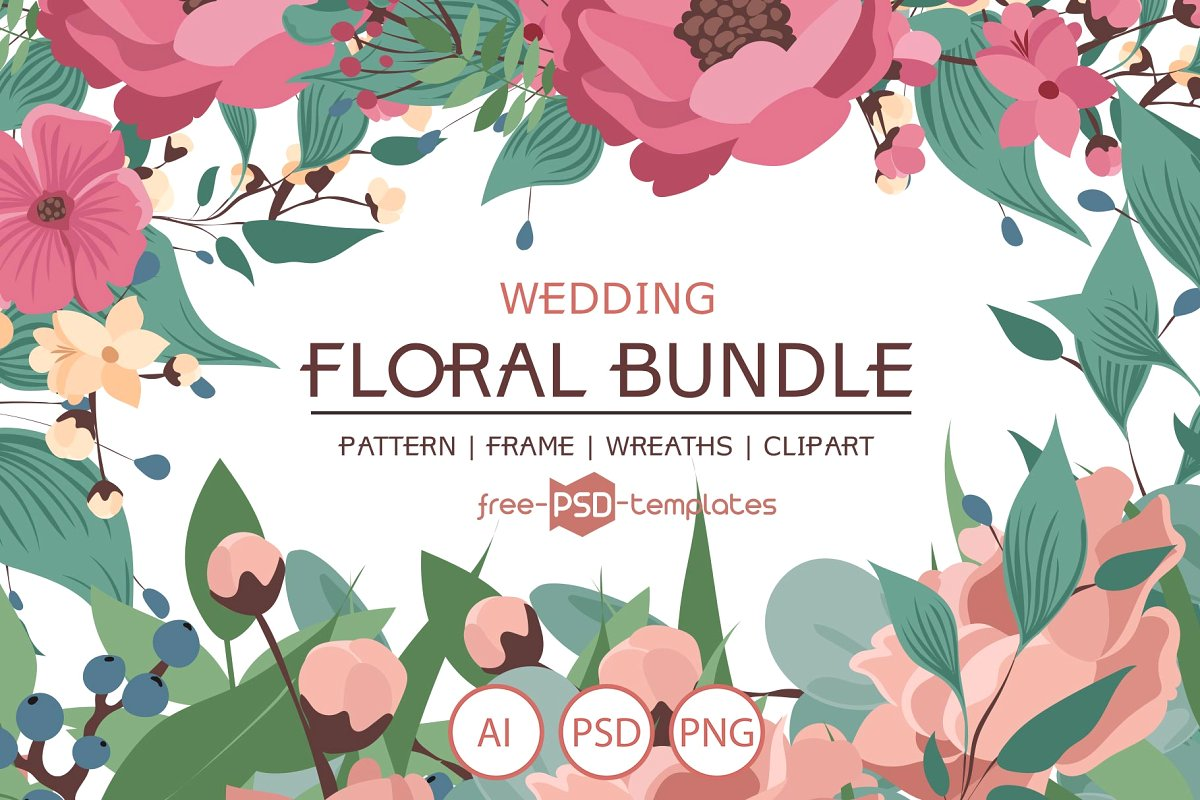 Wedding Floral Bundle ~ Graphic Objects ~ Creative Market.