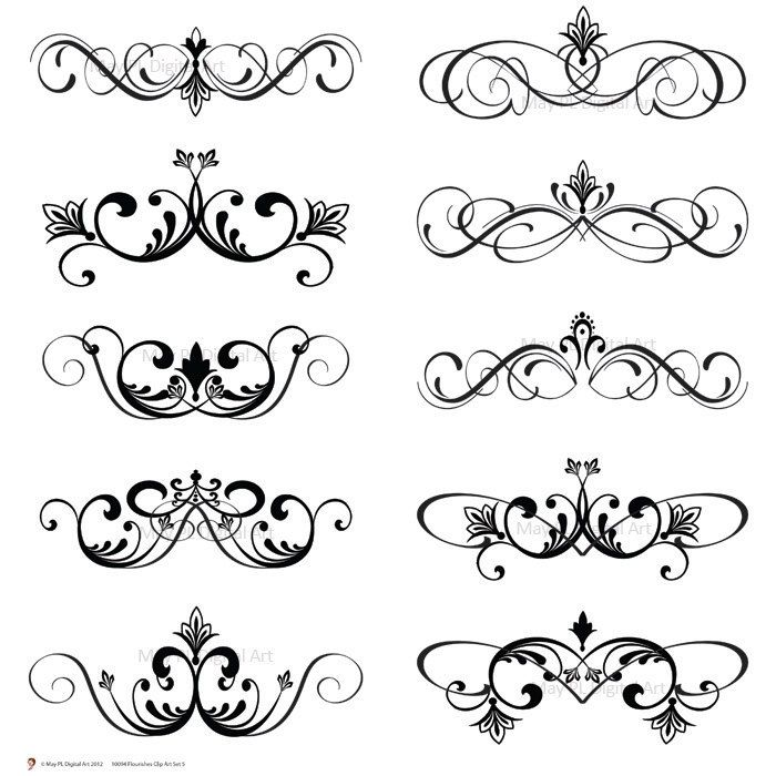 Free Weddings Swirls Clip Art.