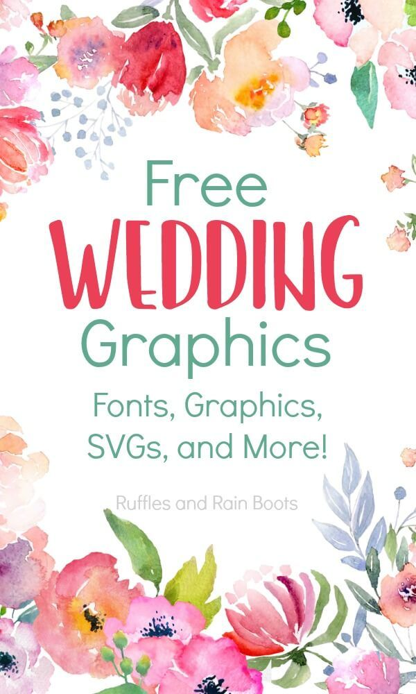 Free Wedding Fonts and Free Wedding Clipart.