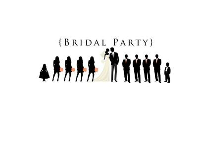 Free Wedding Party Silhouette Clip Art Program, Download.