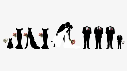 Wedding Party Silhouette PNG Images, Free Transparent.