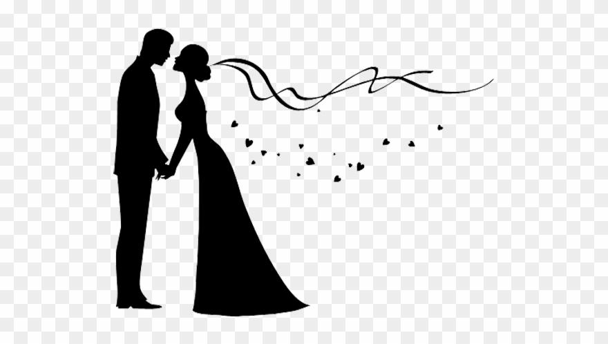Silhouette Couple Wedding Bridegroom Invitation The.