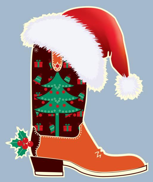 Best Cowboy Santa Illustrations, Royalty.