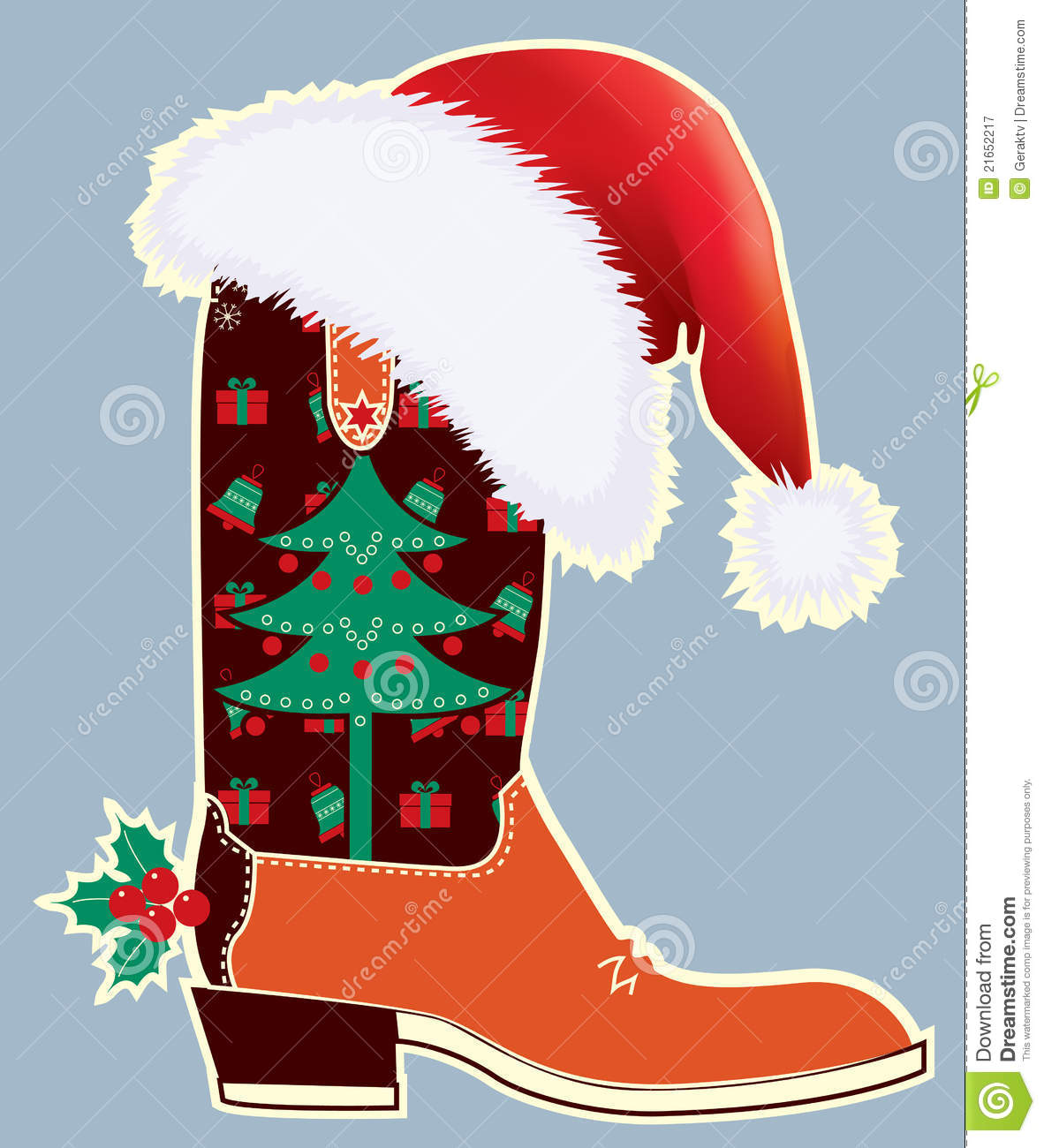 Cowboy Hat Christmas Clipart.