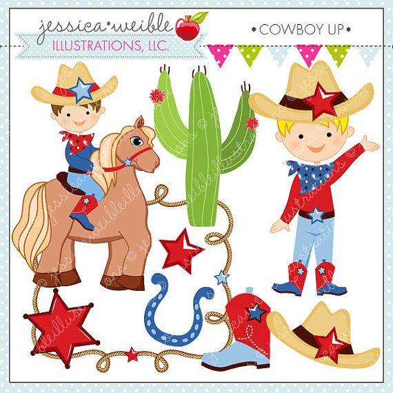 Cowboy Up Cute Digital Clipart, Cowboy Clip art, Cowboy.
