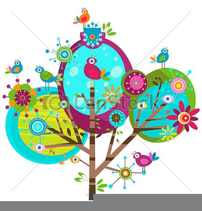 Free Whimsical Bird Clipart.