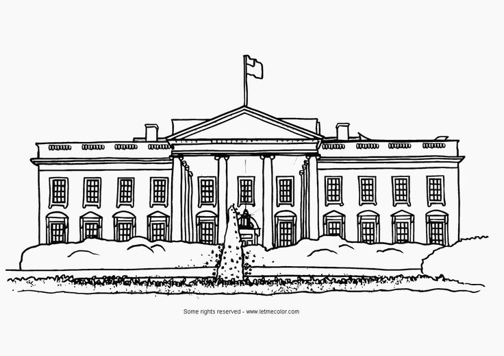 White House Clipart Black And White.