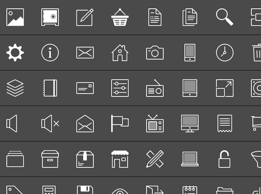 42 Free Line Icon Packs For Your Design Projects.