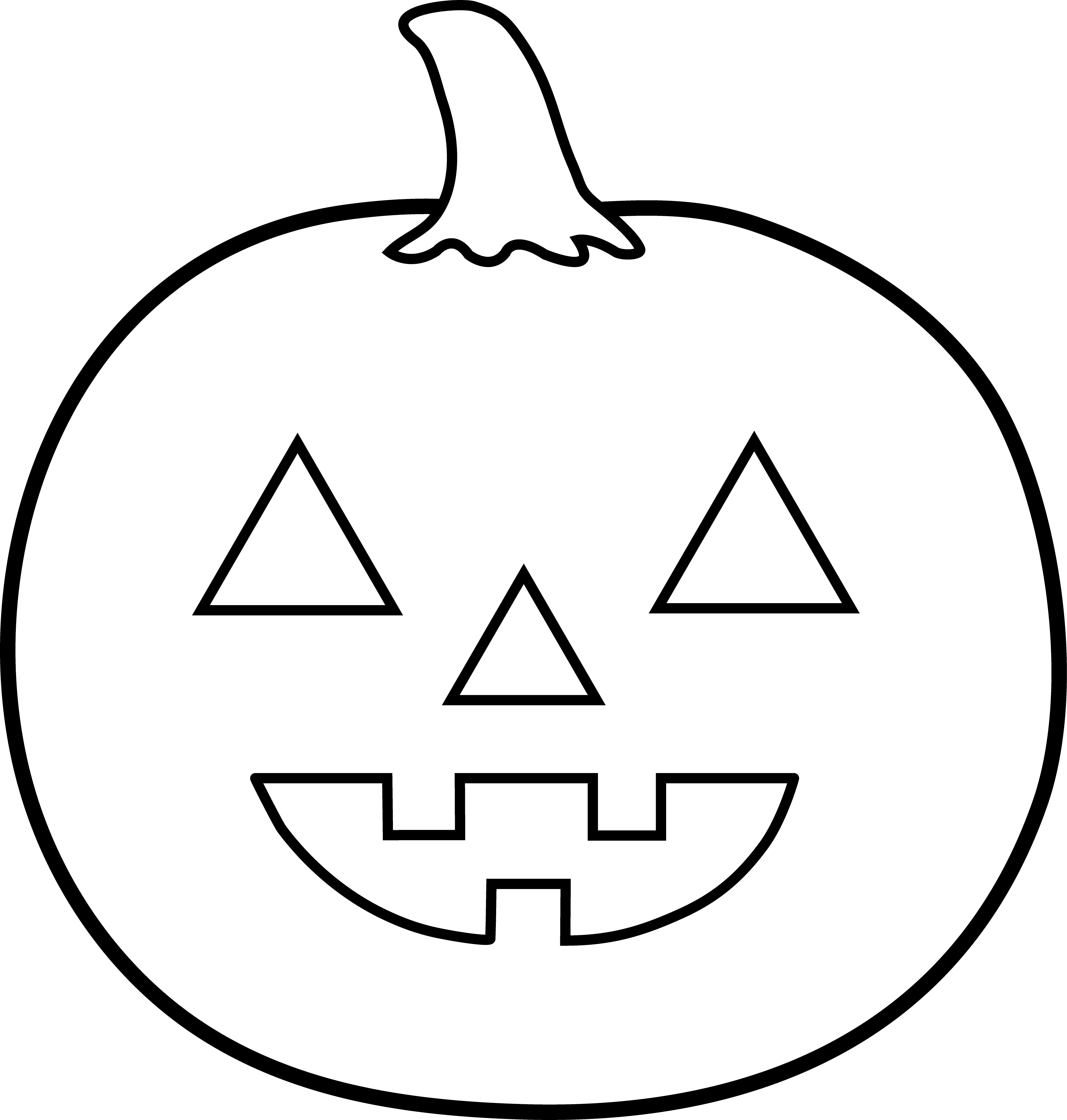 Pumpkin black and white pumpkin outline clipart black and white.