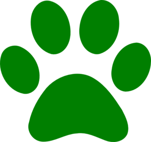 Wildcat paw print clip art.