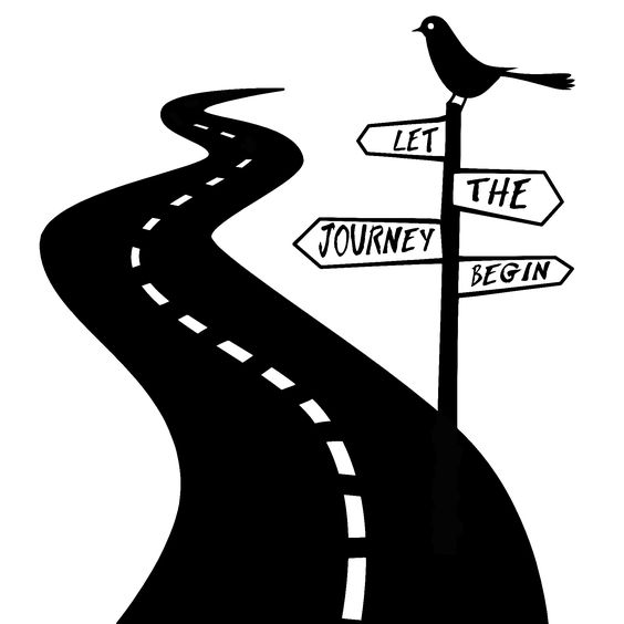 Winding Road With Finish Line Clipart.
