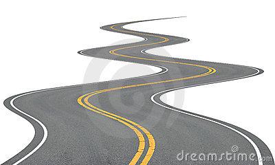 Bendy Road Clipart.