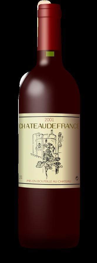 Wine Bottle Clipart, vector clip art online, royalty free design.