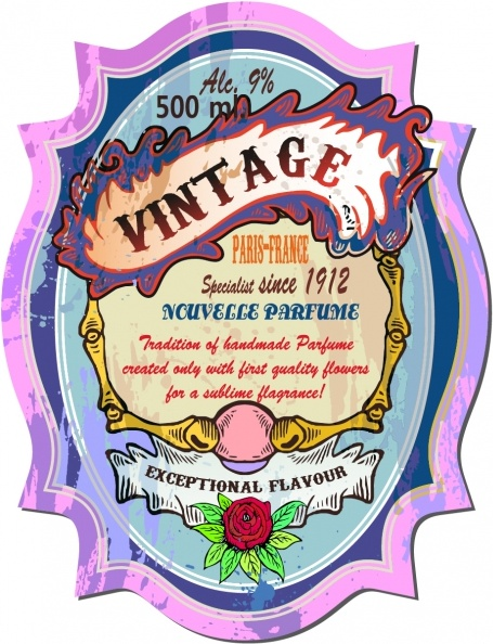 Vintage wine label vector Free vector in Encapsulated.