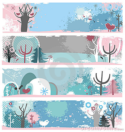 Winter Banners Clipart Banner For Graphics.