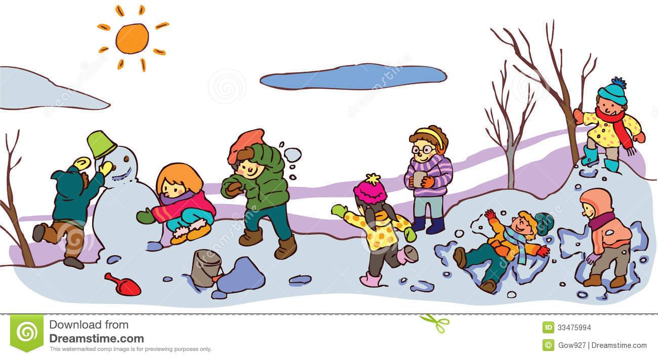 Children Winter Clipart.