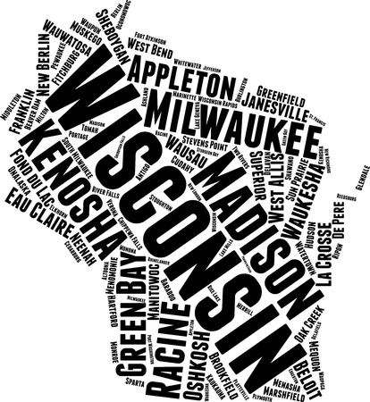1,128 Wisconsin Map Cliparts, Stock Vector And Royalty Free.