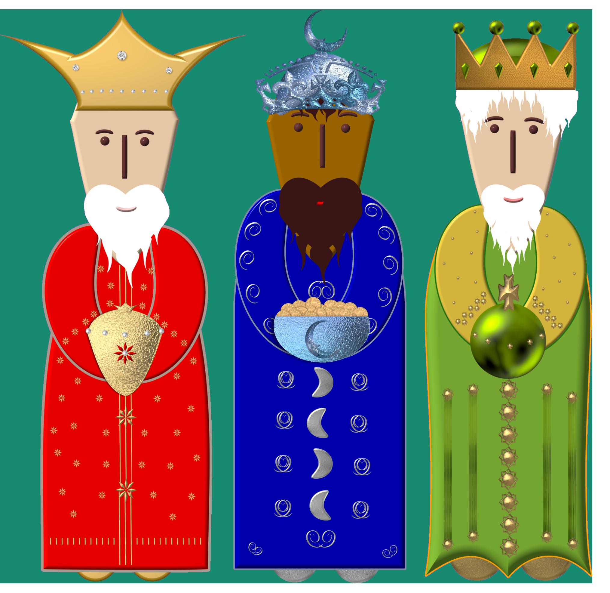 Nativity clipart wisemen, Nativity wisemen Transparent FREE.