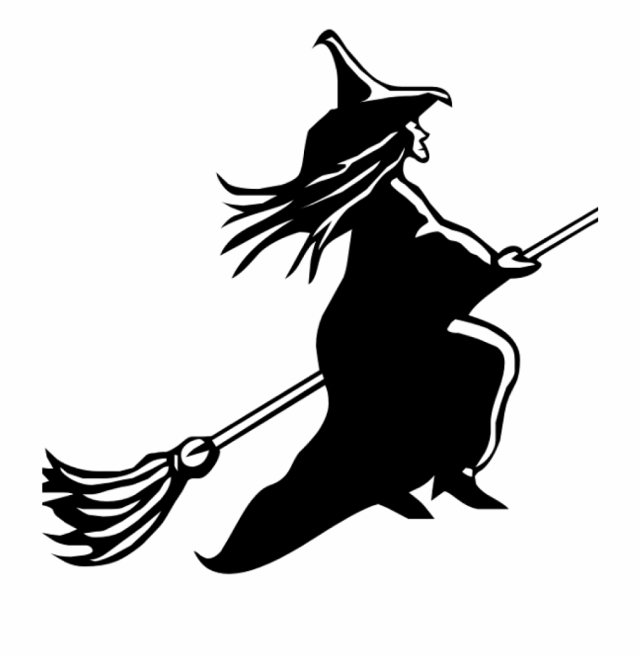 Witch On Broom Clipart Witch Broom Clipart Clipart.