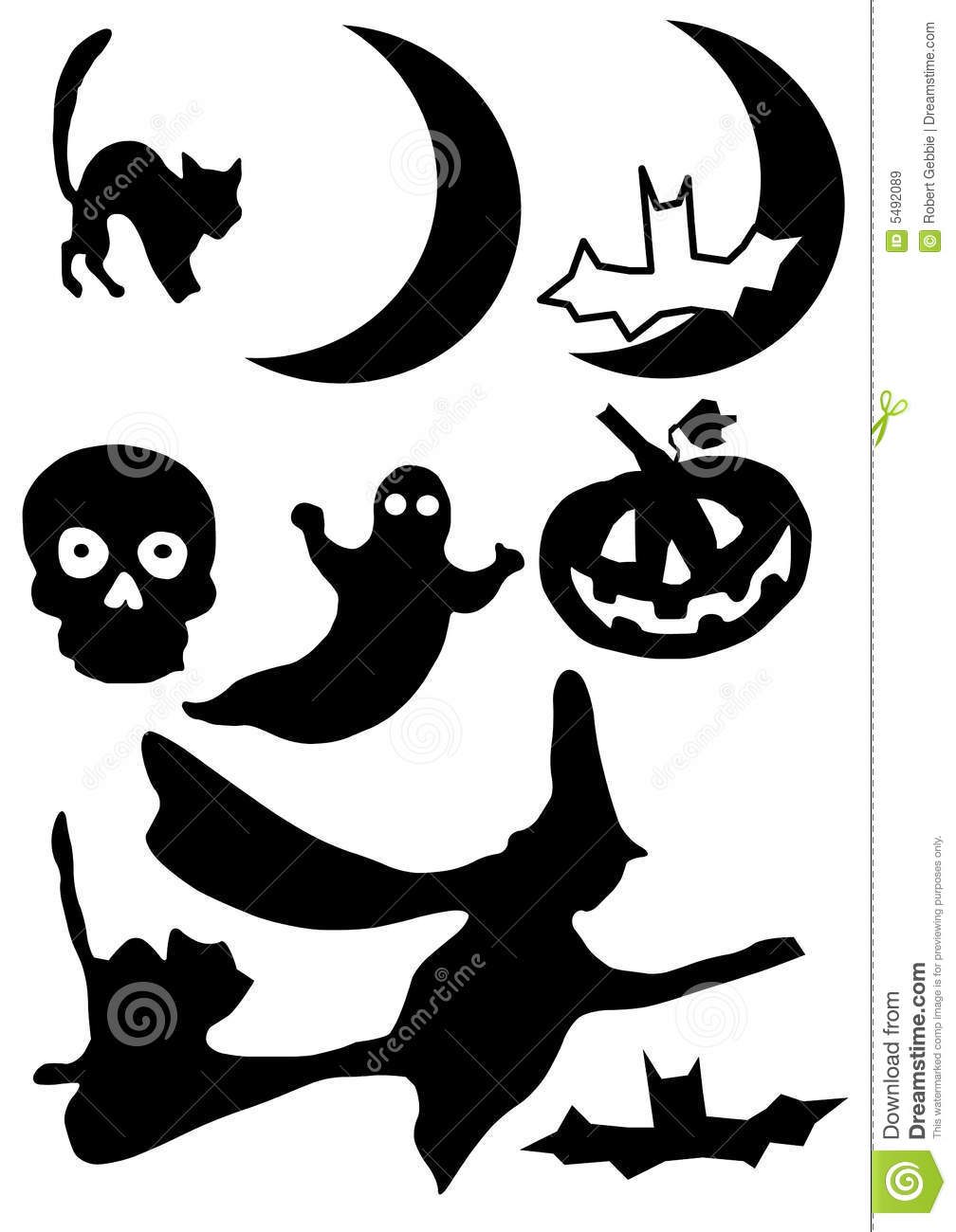 Halloween Silhouette Royalty Free Stock Images.