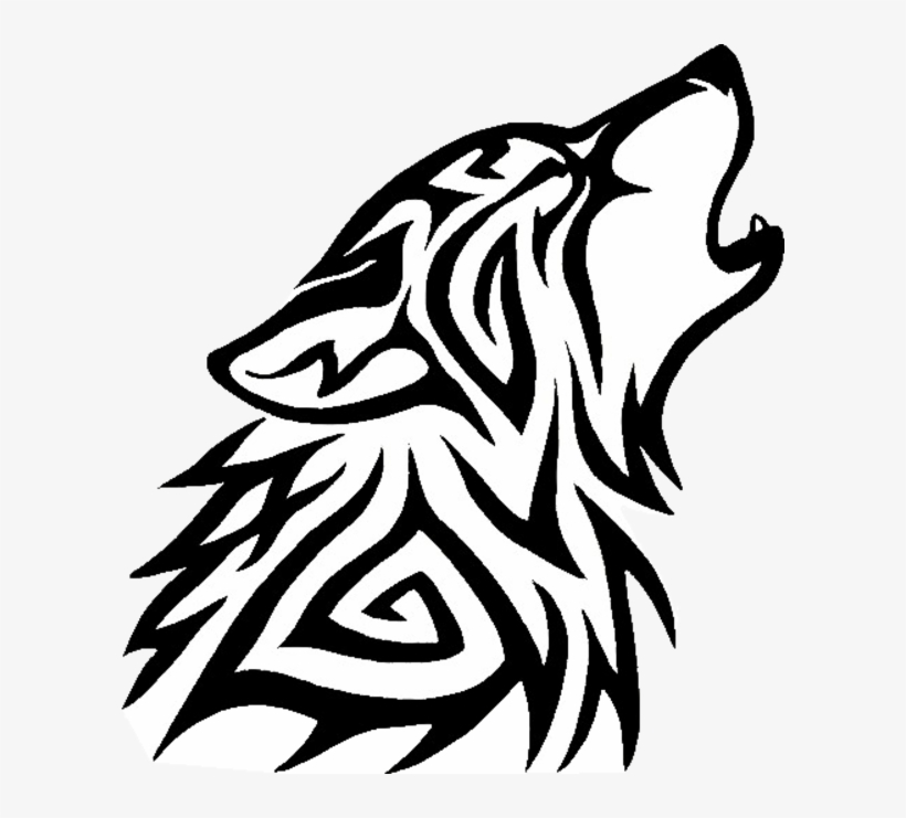 Tribal Wolf Png.