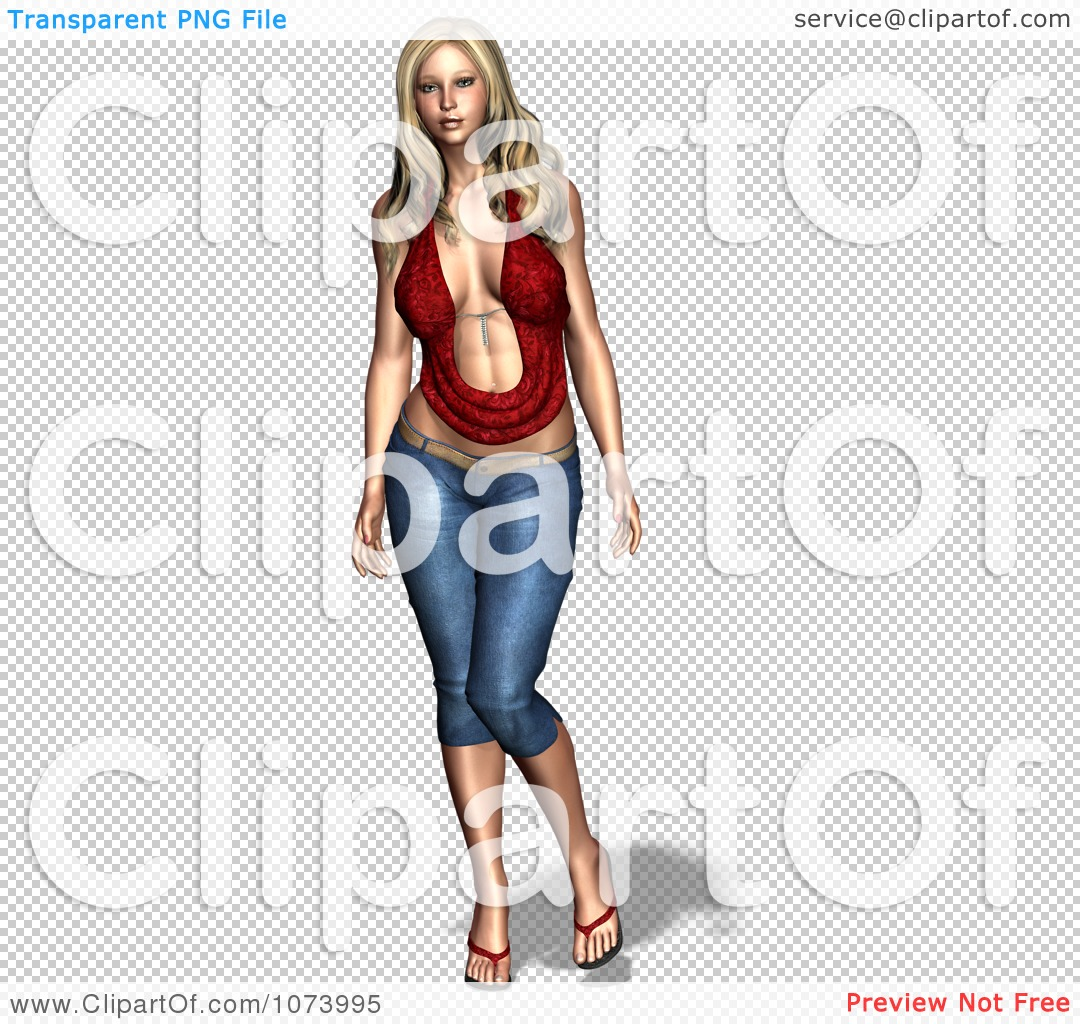 Clipart 3d Sexy Woman.