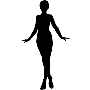 Free Clipart Old Fashion Woman Silhouette.