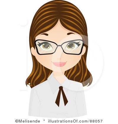 Free Woman With Glasses Clipart Images.