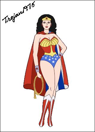 Wonder Woman Clip Art.