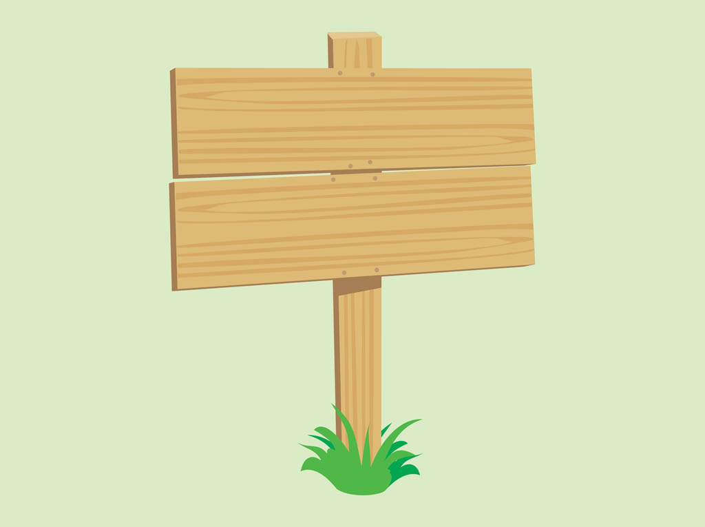 Wood sign clipart.