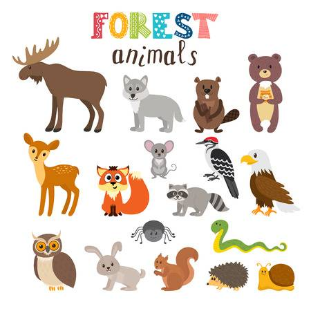 free woodland animal clipart.