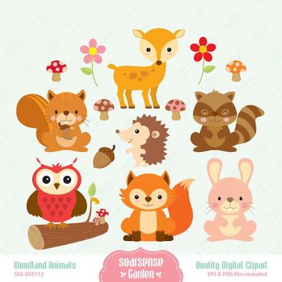 Woodland animal clip art free.