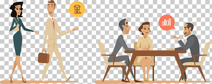 Euclidean Illustration, Business people in the workplace PNG.