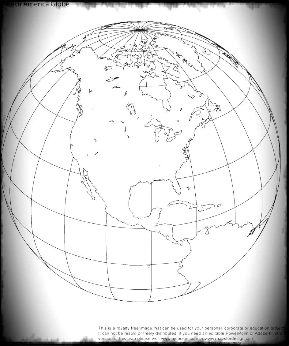 Map Royalty Globe Free World Printable Earth Continents Outline.