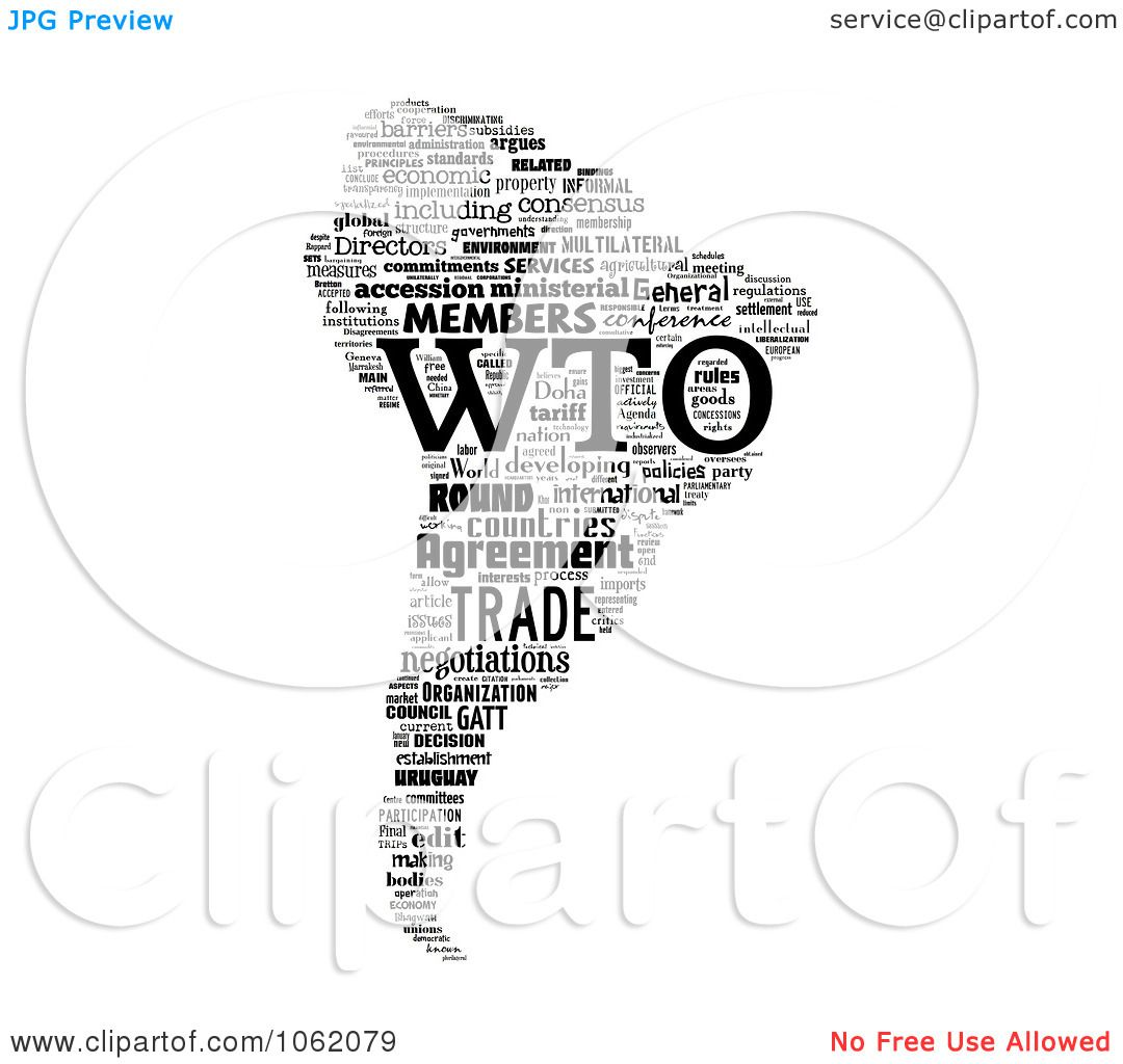 Clipart South America World Trade Organization Word Collage.