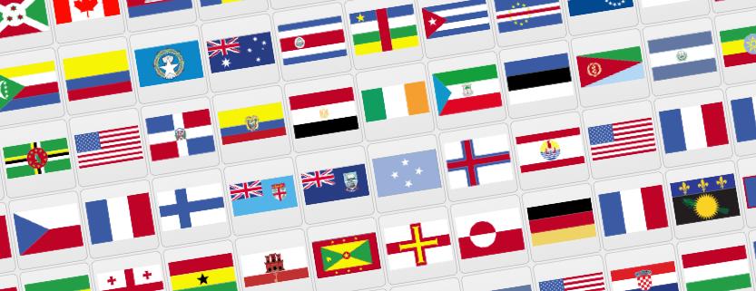 clipart flag world.