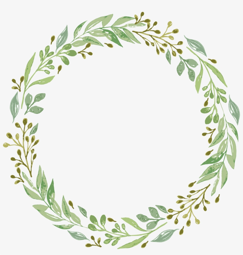 Vector Free Stock Leaf Garland Clipart.