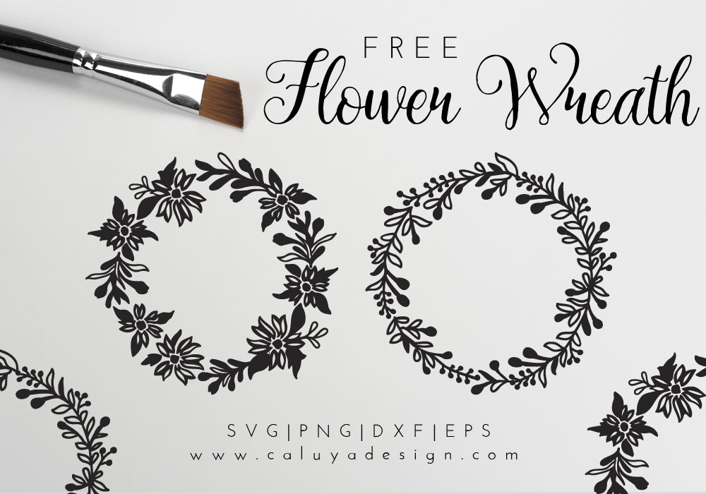 Flower Wreath Free SVG, PNG, EPS & DXF Download By Caluya Design.