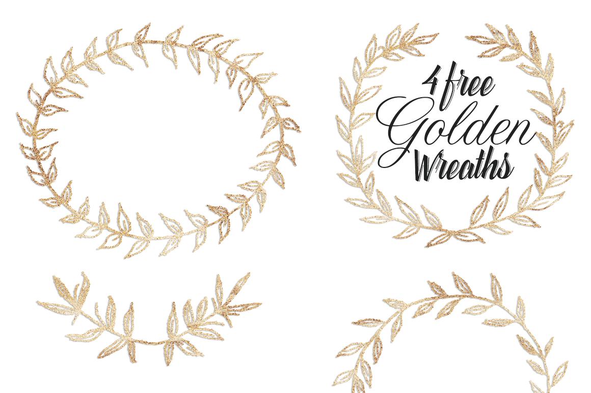 Free Golden Wreath Graphics.
